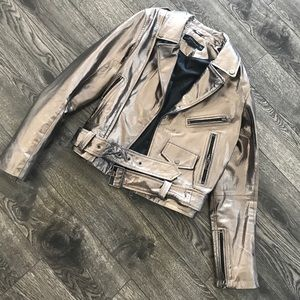 Zara metallic pleather jacket! Size X-small
